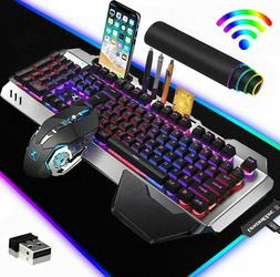3in1 Rechargeable Wireless Backlit Gaming Keyboard Mouse and