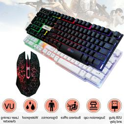 Colorful Gaming Keyboard Crack LED Illuminated Backlit USB W
