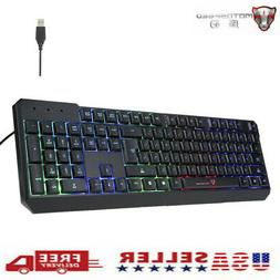 MOTOSPEED Esport Colorful Backlit Gaming Keyboard for PC Lap