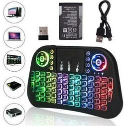 I10 2.4G Mini Wireless Keyboard Remote Touchpad Backlit for