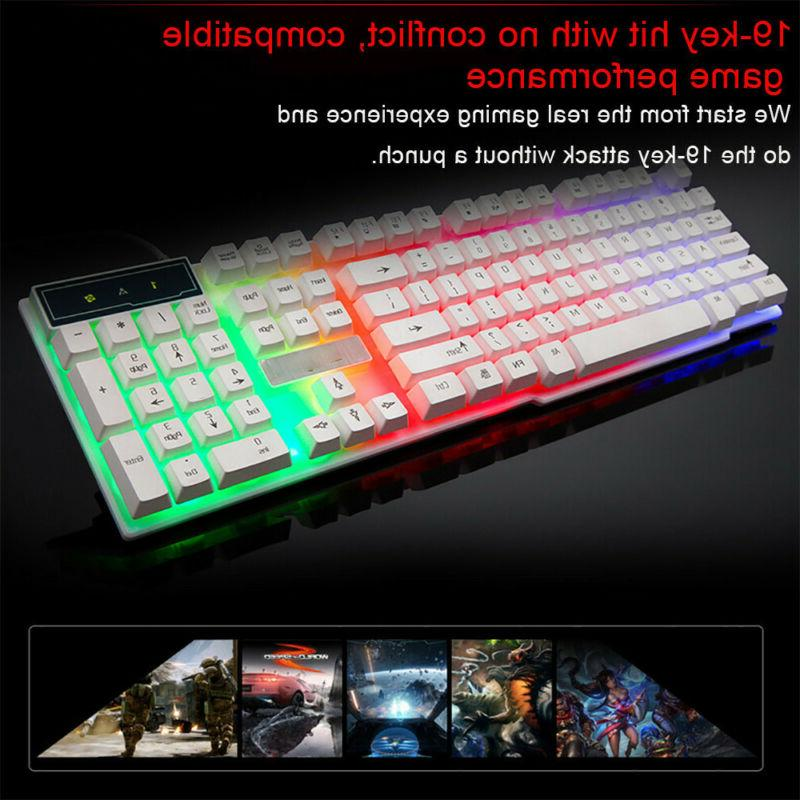 Colorful Keyboard LED Backlit Wired PC