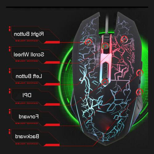 Computer Gaming and Mouse Combo LED Light Backlit