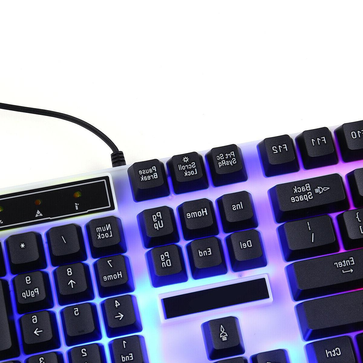 Computer RGB Keyboard And Mouse RGB