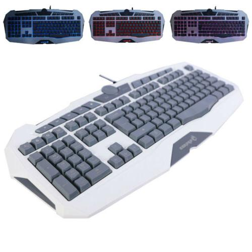 Gaming Keyboard Backlit PC Mechanical Backlight Wired LED Il