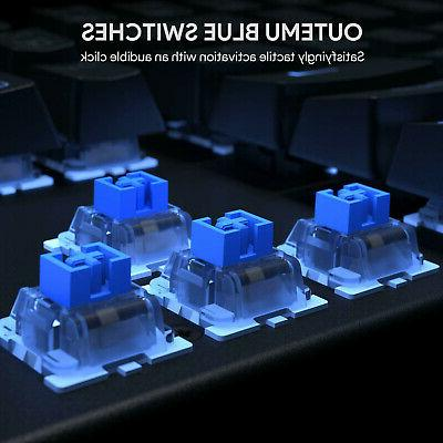 Gaming Keyboard RGB Backlit Switches Water-Resistant 13 Mode