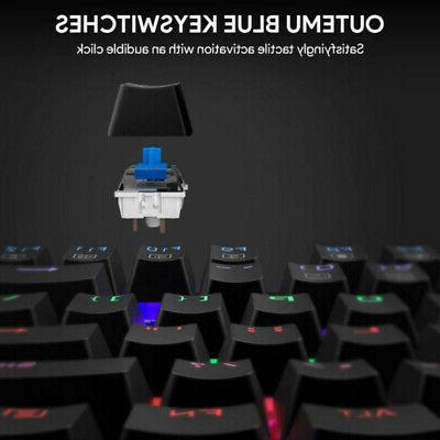 Mechanical Gaming Keyboard LED Backlit with Switches Water-Resistant LED
