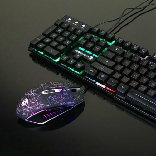 Gaming Mouse Rainbow Mechanical for PC Laptop Slim