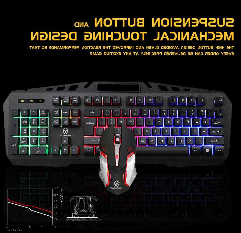GK806 Wire and Mouse Combo 104Key with for PC