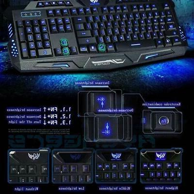 LED Ergonomic Keyboard&Mouse