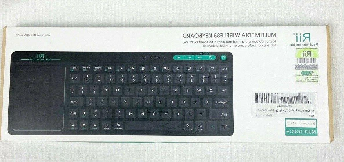 K18 Plus Wireless 3-Led Color Multimedia Keyboard With Multi-Touch Big
