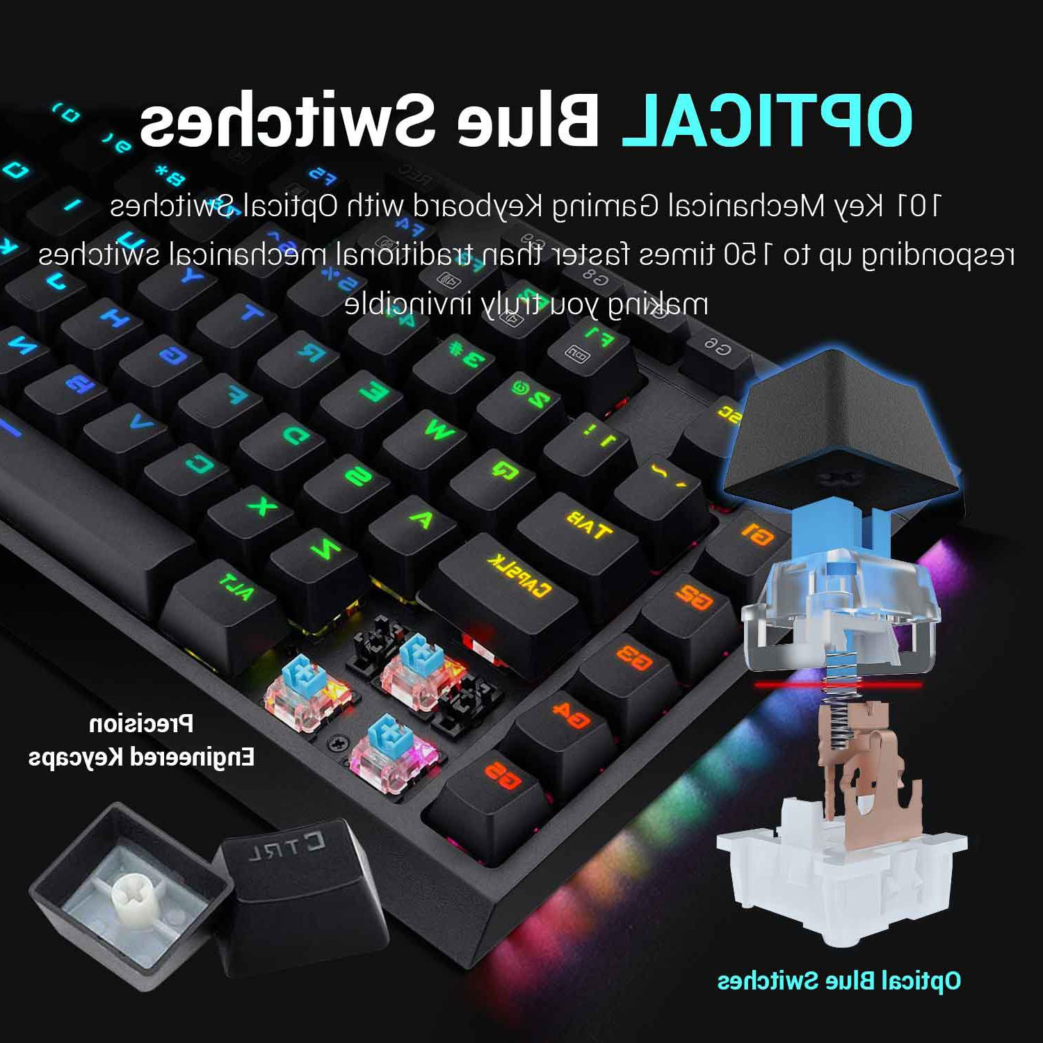 Redragon RGB Optical Blue Gaming Keyboard!