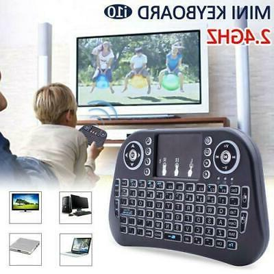 LED Backlit 2.4GHz Wireless Keyboard For TV BOX PC