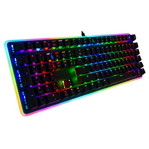 Rosewill Gaming Keyboard, RGB Backlit Computer Switch for Laptop, Software Gaming