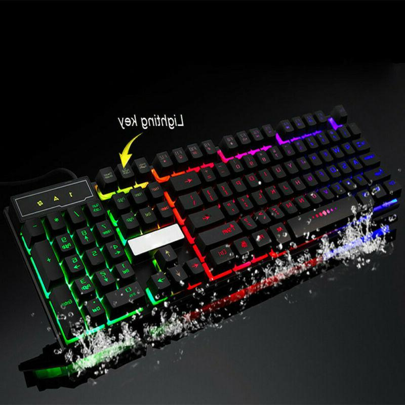 Colorful Gaming Crack LED Wired PC Rainbow US