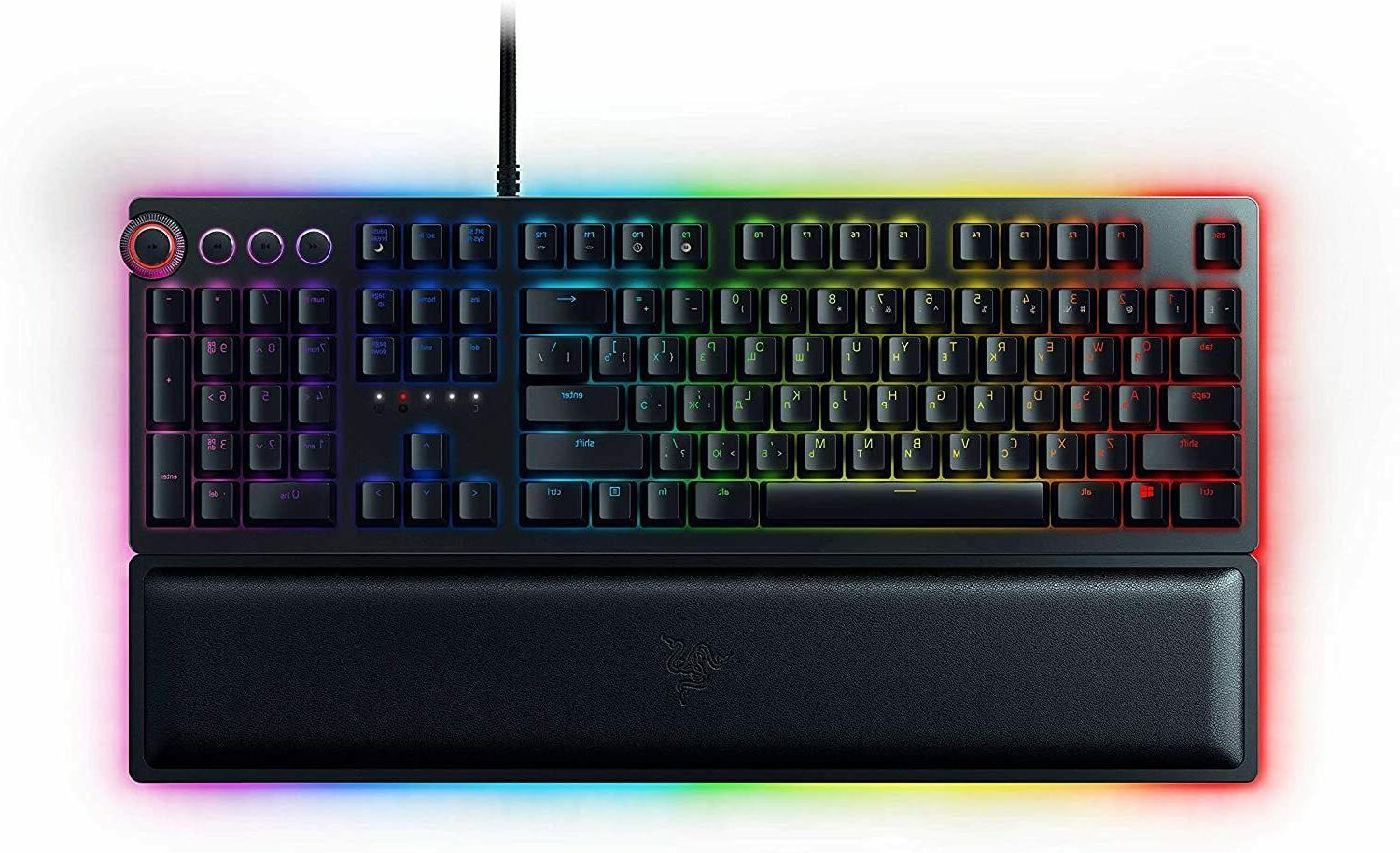 new huntsman elite wired gaming keyboard opto