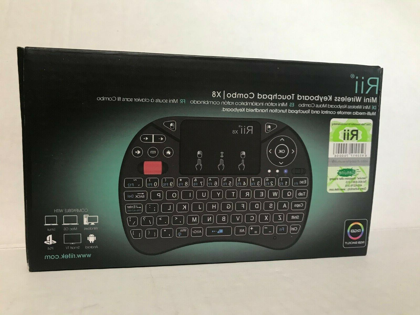 new x8 mini wireless keyboard with colorful