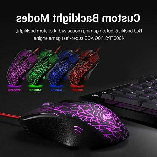 Redragon S107 and Mouse Combo Mouse Pad Mechanical Feel RG