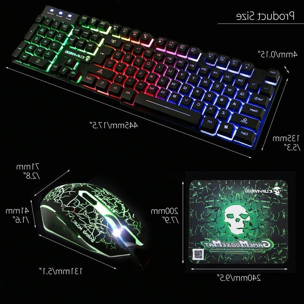 T6 Backlit Wired Mouse Pad For PS3 XBOX PC