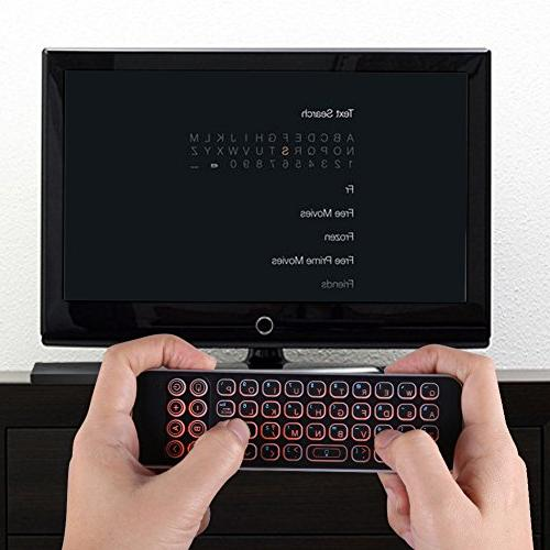 Updated 2018 Infrared Learning Universal Control, Keyboard with Backlit for Smart Box