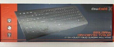 wireless silent keyboard with low profile quiet