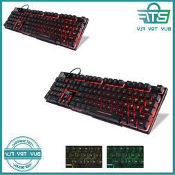 Large Print LED Lighted Computer Keyboard Full Size USB Mult