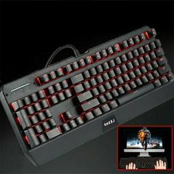 Large Print LED Lighted Computer Keyboard Full Size USB Colo