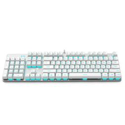 mechanical gaming keyboard with blue backlit 104