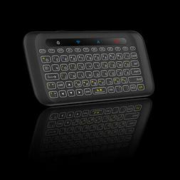Mini Tilted Backlit Wireless Keyboard Mouse Air Touchpad IR