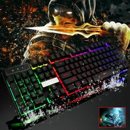 Multicolor Crack LED Illuminated Backlit USB Wired PC Waterp