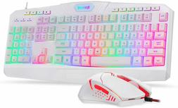 Redragon S101 Wired Gaming Keyboard and Mouse Combo RGB Back