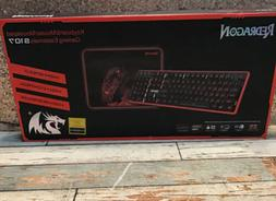 Redragon S107 Gaming Keyboard and Mouse Combo Large Mouse Pa