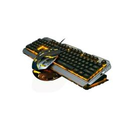 wired gaming keyboard and mouse combo orange