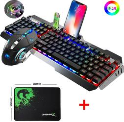 Wired RGB LED Backlit Usb For PS4 Gaming Keyboard Mouse Sets